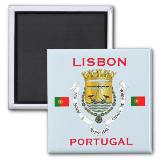 Lisbon Portugal Coat of Arms Magnet