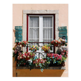 Lisbon´s window balcony postcard