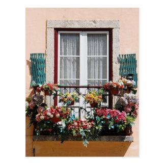 Lisbon´s window balcony postcard