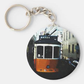 Lisbon tram basic round button key ring