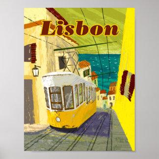 "Lisbon Travel Poster 8.5"" x 11"""