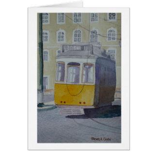 Lisbon Trolley 2.JPG Greeting Card