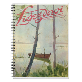 Lisez-moi, Boat on the lagoon Spiral Notebook