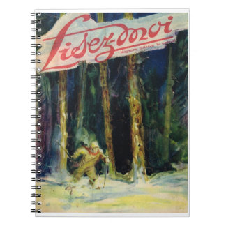 Lisez-moi, Skiing through the forest Notebook