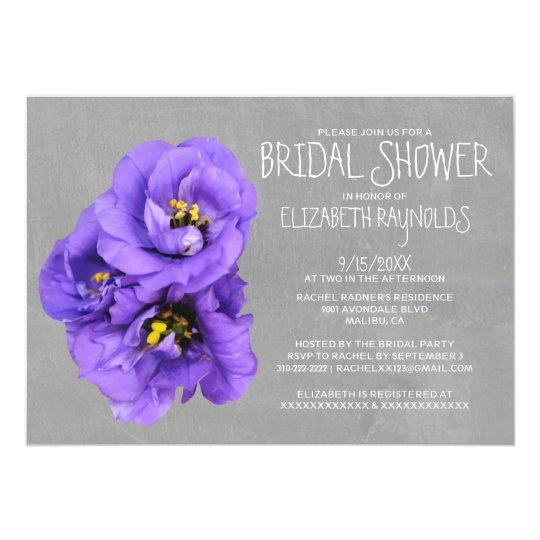Lisianthus Bridal Shower Invitations