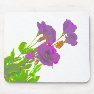 Lisianthus Purple Flowers Mouse Pad