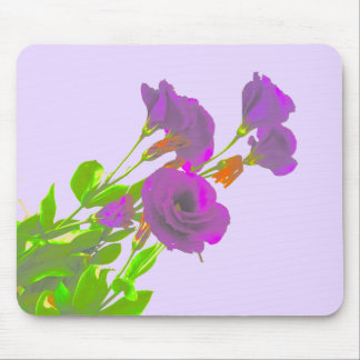 Lisianthus Purple Flowers Mouse Pad