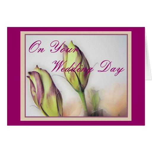 Lisianthus Wedding Day- customize Card