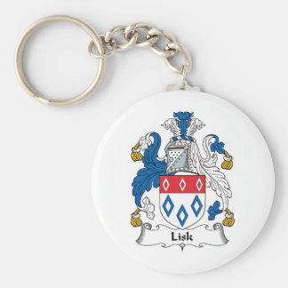 Lisk Family Crest Basic Round Button Key Ring