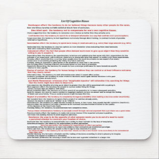 List Of Cognitive Biases Mouse Mat