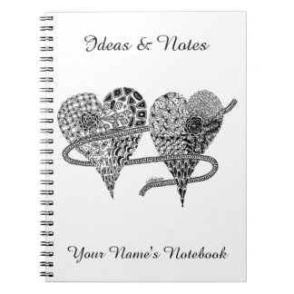 Listakora Two Hearts Personalized Notebook
