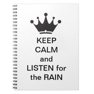 Listen for the Rain Spiral Notebook