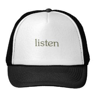 Listen (learn) mesh hat