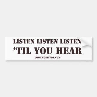 Listen Listen Bumper Sticker