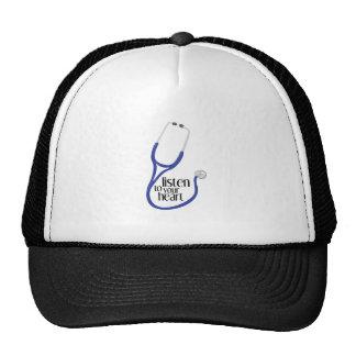 Listen To Heart Trucker Hats