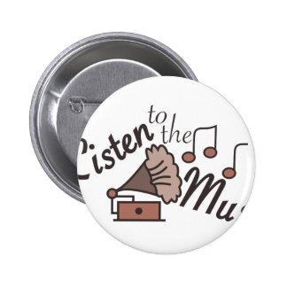 Listen To Music 6 Cm Round Badge