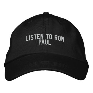 LISTEN TO RON PAUL EMBROIDERED BASEBALL CAP