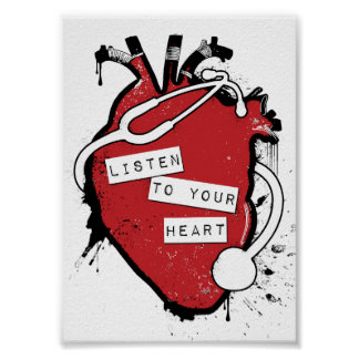 listen to your anatomical heart poster