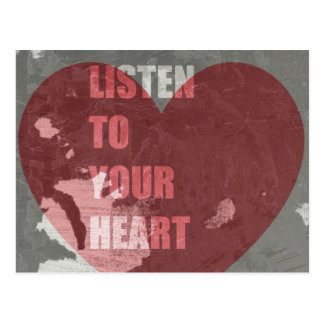 Listen To Your Heart Postcard