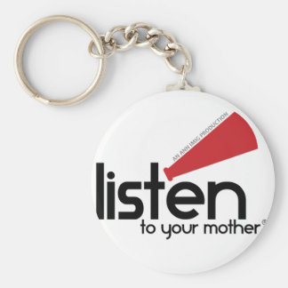 Listen To Your Mother Gifts Basic Round Button Key Ring