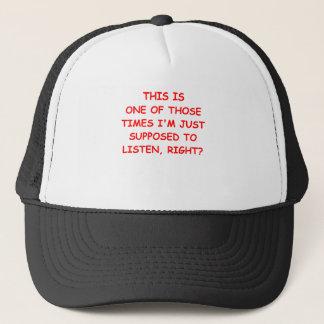 listen trucker hat