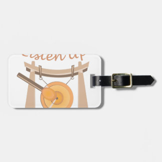 Listen Up Luggage Tag
