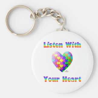 Listen With Your Heart Keychains