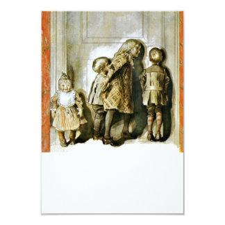 Listening at the Door Xmas Eve 3.5x5 Paper Invitation Card