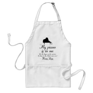Liszt Piano Classical Music Quote Standard Apron