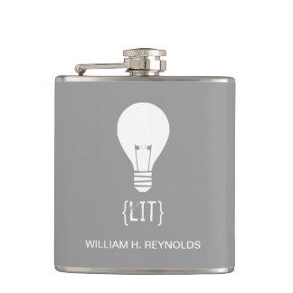 {LIT} Bridal Party Lit Lightbulb Flask (grey)