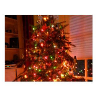 Lit Christmas Tree Postcard