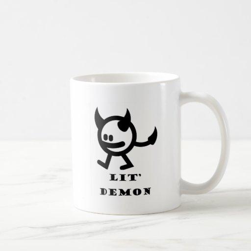 lit demon coffee mug