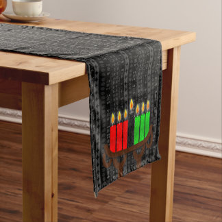 Lit Kinara Kwanzaa with Black, Red and Green