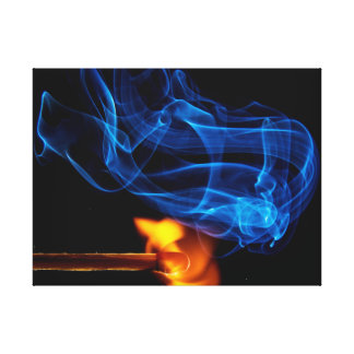 Lit Match, Fire and Smoke Stretched Canvas Prints