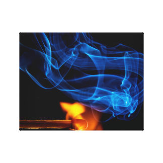 Lit Match, Fire and Smoke Gallery Wrapped Canvas