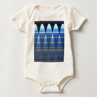 Lit up Blue Building Block 2 Baby Bodysuit