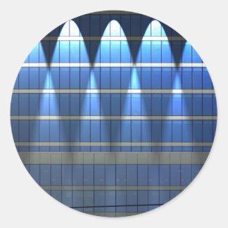 Lit up Blue Building Block 2 Round Sticker