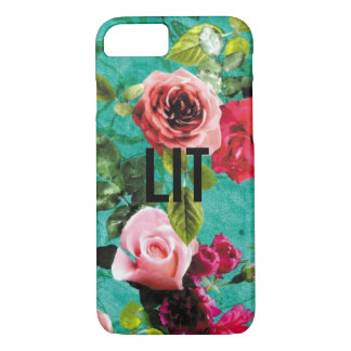 LIT with Floral Background iPhone 7 Case