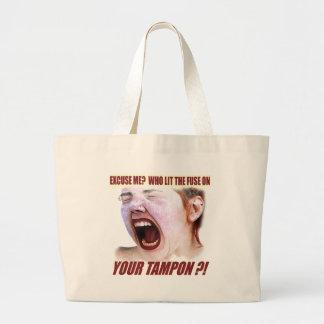 Lit Your Tampon Funny T-shirts Gifts Jumbo Tote Bag