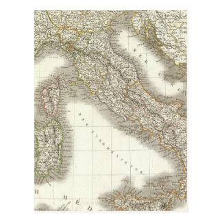 L'Italie - Italy Map Postcard