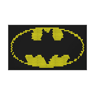Lite-Brite Bat Emblem Gallery Wrapped Canvas