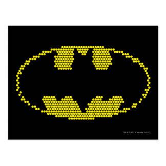 Lite-Brite Bat Emblem Post Cards