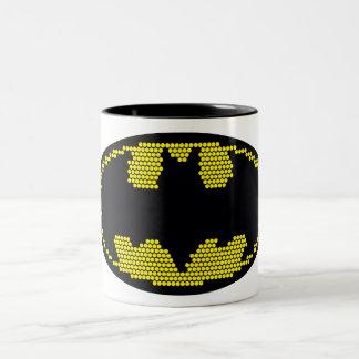 Lite-Brite Bat Emblem Two-Tone Coffee Mug