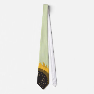 Lite Green Sunflower Wedding Tie Striped