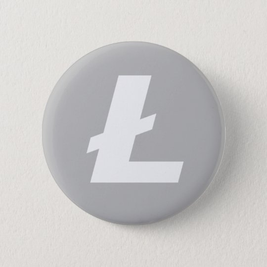 Litecoin button/pin 6 cm round badge