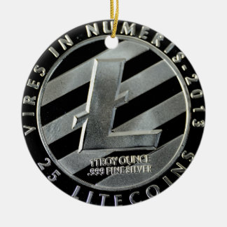 litecoin Coins Christmas Ornament