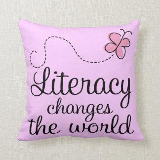 Literacy Reading Quote Throw Pillow