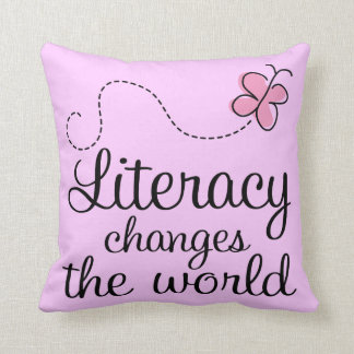 Literacy Reading Quote Throw Pillow Cushions