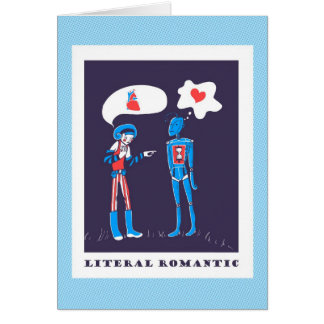 Literal Romantic - Robot Love in Binary Greeting Card