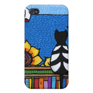 Literary Cat iPhone 4 Case